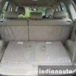 2015 Mahindra XUV500 (facelift) boot space with seats folded review