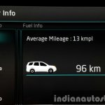 2015 Mahindra XUV500 (facelift) fuel info review