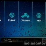 2015 Mahindra XUV500 (facelift) infotainment menu review
