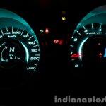 2015 Mahindra XUV500 (facelift) intrument cluster dark review
