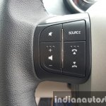 2015 Mahindra XUV500 (facelift) steering mounted audio controls review
