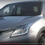 2015 Suzuki Baleno front three quarter teaser