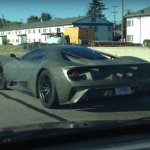 2016 Ford GT rear spotted testing with unpainted carbon fiber body