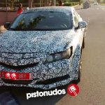 2016 Honda Civic 5 Door notchback front three quarter spotted in Spain