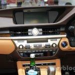 2016 Lexus ES300h center console at the 2015 Gaikindo Indonesia International Motor Show (2015 GIIAS).