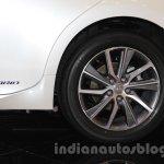 2016 Lexus ES300h rear wheel at the 2015 Gaikindo Indonesia International Motor Show (2015 GIIAS).