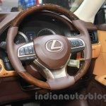 2016 Lexus ES300h steering wheel at the 2015 Gaikindo Indonesia International Motor Show (2015 GIIAS).