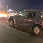 2016 Renault Duster rear three quarter left spotted testing