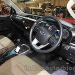 2016 Toyota Hilux Double Cab interior at the 2015 Gaikindo Indonesia International Auto Show (2015 GIIAS).