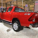 2016 Toyota Hilux Double Cab rear three quarter at the 2015 Gaikindo Indonesia International Auto Show (2015 GIIAS).