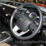 2016 Toyota Hilux Double Cab steering wheel at the 2015 Gaikindo Indonesia International Auto Show (2015 GIIAS).