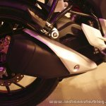 Honda CB Hornet 160R exhaust from the showcase in India