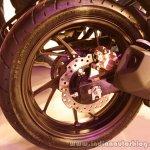 Honda CB Hornet 160R rear disc brake from the showcase in India