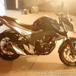 Honda CB Hornet 160R side profile from the showcase in India