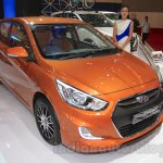 Hyundai Grand Avega Limited front quarter at the 2015 Gaikindo Indonesia International Motor Show