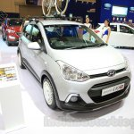 Hyundai Grand i10X front quarter at the 2015 Gaikindo Indonesia International Motor Show