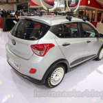 Hyundai Grand i10X rear three quarter at the 2015 Gaikindo Indonesia International Motor Show