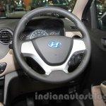 Hyundai Grand i10X steering wheel at the 2015 Gaikindo Indonesia International Motor Show