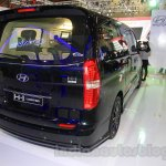Hyundai H-1 Black Edition rear three quarter right at the 2015 Indonesia International Motor Show