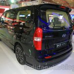 Hyundai H-1 Black Edition rear three quarters at the 2015 Indonesia International Motor Show