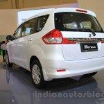 2015 Suzuki Ertiga facelift rear three quarter left view at the Gaikindo Indonesia International Auto Show 2015