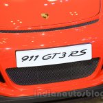 Porsche 911 GT3 RS front bumper at the 2015 Gaikindo Indonesia International Auto Show