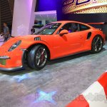 Porsche 911 GT3 RS parked at the 2015 Gaikindo Indonesia International Auto Show