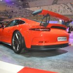 Porsche 911 GT3 RS rear three quarters left at the 2015 Gaikindo Indonesia International Auto Show