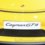 Porsche Cayman GT4 bumper at the 2015 Gaikindo Indonesia International Auto Show