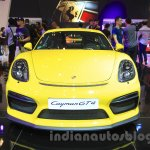 Porsche Cayman GT4 front at the 2015 Gaikindo Indonesia International Auto Show