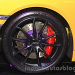 Porsche Cayman GT4 front disc brake at the 2015 Gaikindo Indonesia International Auto Show