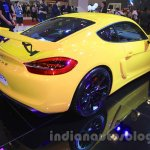 Porsche Cayman GT4 rear three quarter right at the 2015 Gaikindo Indonesia International Auto Show