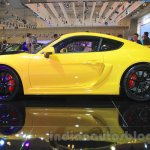 Porsche Cayman GT4 side at the 2015 Gaikindo Indonesia International Auto Show