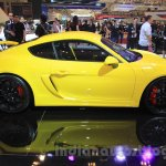 Porsche Cayman GT4 side profile at the 2015 Gaikindo Indonesia International Auto Show