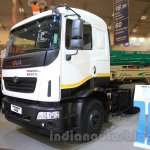 Tata Prima 4928.S front three quarter at the 2015 Gaikindo Indonesia International Auto Show