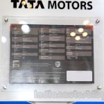 Tata Prima 4928.S spec sheet at the 2015 Gaikindo Indonesia International Auto Show