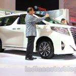 Toyota Alphard Hybrid at the Gaikindo Indonesia International Auto Show 2015
