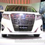 Toyota Alphard Hybrid front at the Gaikindo Indonesia International Auto Show 2015