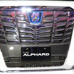 Toyota Alphard Hybrid grille at the Gaikindo Indonesia International Auto Show 2015