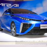Toyota Mirai front three quarter view at the Gaikindo Indonesia International Auto Show 2015