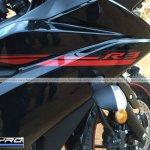Yamaha R3 for India fairing front spyshot