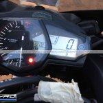 Yamaha R3 for India instrument cluster spyshot