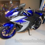 Yamaha YZF-R3 racing blue front three quarter launched in Delhi at INR 3.25 Lakhs