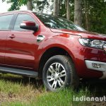 2015 Ford Endeavour front three quarters left (Review)