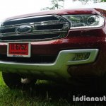 2015 Ford Endeavour grille headlamp and bumper (Review)