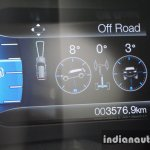 2015 Ford Endeavour instrument cluster 3 (Review)