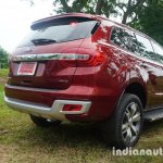 2015 Ford Endeavour rear three quarter (Review)