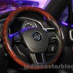 2015 VW Touareg steering at the 2015 NADA Auto Show
