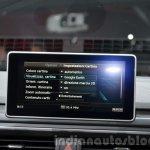 2016 Audi A4 Avant S-line MMI display at the IAA 2015