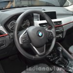 2016 BMW X1 steering wheel and interior at the IAA 2015